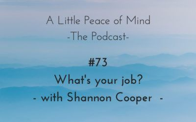 Episode 73: What's Your Job? with Shannon Cooper