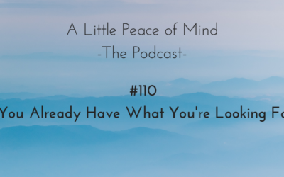 Episode 110: You Already Have What You're Looking For