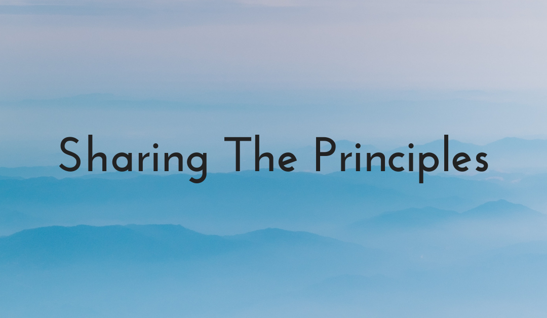 Sharing the Principles